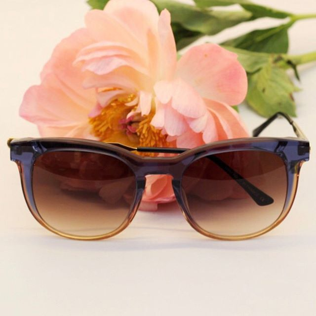 Add a little drama to your Monday, it makes it go by so much faster! 🕶 from @thierrylasry in bluepinkish frames with gold details - drama for days! #BågarOchGlas #ThierryLasry