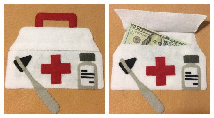 Med school students need cash! #myjollylife #quietbook #quietbookpages #cashgiftideas