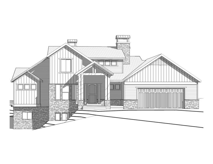 woodhaven a mountain rustic style two story house plan