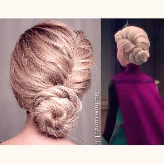 Coucou les filles ! Vous avez toutes vu Frozen, et je suis sûre que vous adorez la coiffure d'Elsa Sachez que vous avez la possibilité de vous en inspirer pour votre mariage Voici 8 idées à continuation Dites-moi quelle est votre préférée ! 1 2 3 4 5
