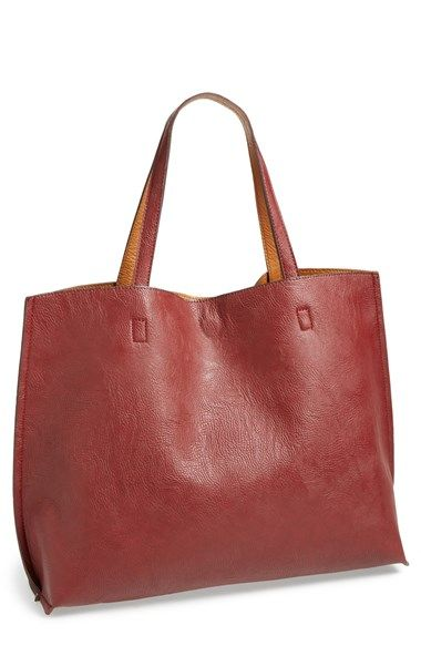 Reversible leather tote (that's only $50!)