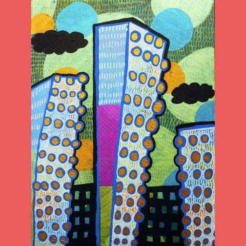 ''Big City''-11''×14'' acrylic on canvas 2016