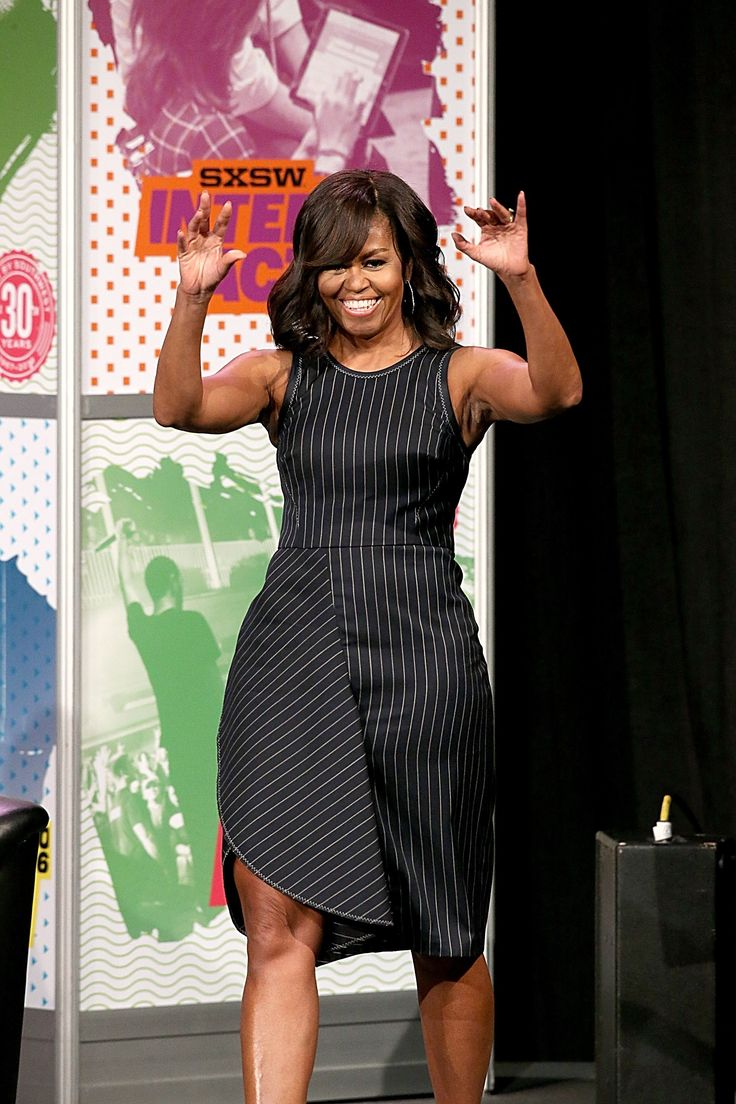 Michelle Obama Takes Pinstripes Into the Digital Age