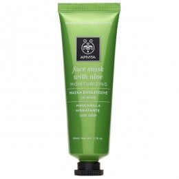 FACE MASK Moisturizing Face Mask with aloe. #Intensive Moisturization #Soothing Effect #Rejuvenation Intensive moisturizing face mask with cream-gel texture, suitable for all skin types and ages and ideal for dehydrated and sensitive skin. Read more at www.apivita.com