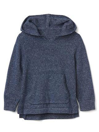 Marled sweater hoodie