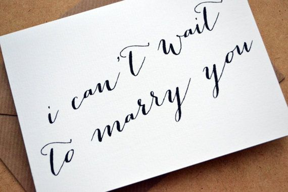 Wedding Greetings Card  I can't wait to marry you by AmysAvenueUK