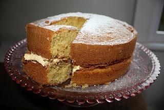 custard cake made with bird's custard powder
