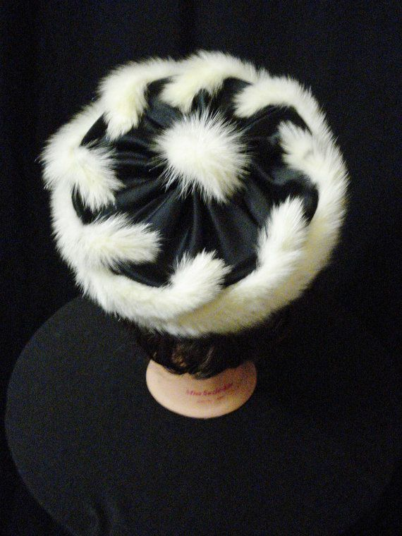 Fox Fur Pillbox Hat Vintage 60s Chic Glam by Yesteryearsthreads