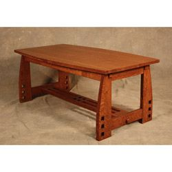 Mission Style Coffee Table Made Of Quarter Sawn White Oak Also Called Tiger  Oak, And Has A Boat Shaped Top And Smaller Scale.