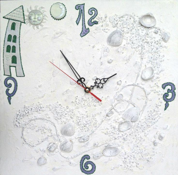 Unusual white wall clocks for your harmonious interior / Unique clocks / Wall…
