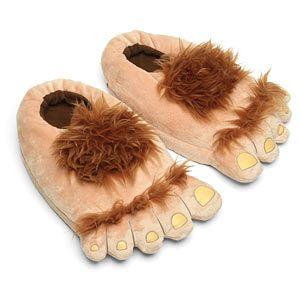 ThinkGeek :: Furry Adventure Slippers... hobbit feet slippers!