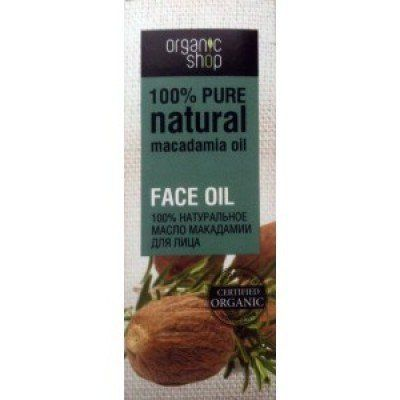 Organic shop 100% natural macadamia oil for the face 30ml by Organic Shop. $5.99. Description Macadamia oil gently nourishes the skin, moisturizing, nourishing and restoring its structure. Tones, improves cellular respiration, effectively prevents aging of the skin, making it more resilient, healthy and beautiful. Macadamia oil contains large amounts of B vitamins (B1, B2, B5, B6, B12), E and PP, minerals and proteins. Macadamia oil is suitable for all skin types. Oil is suitab...