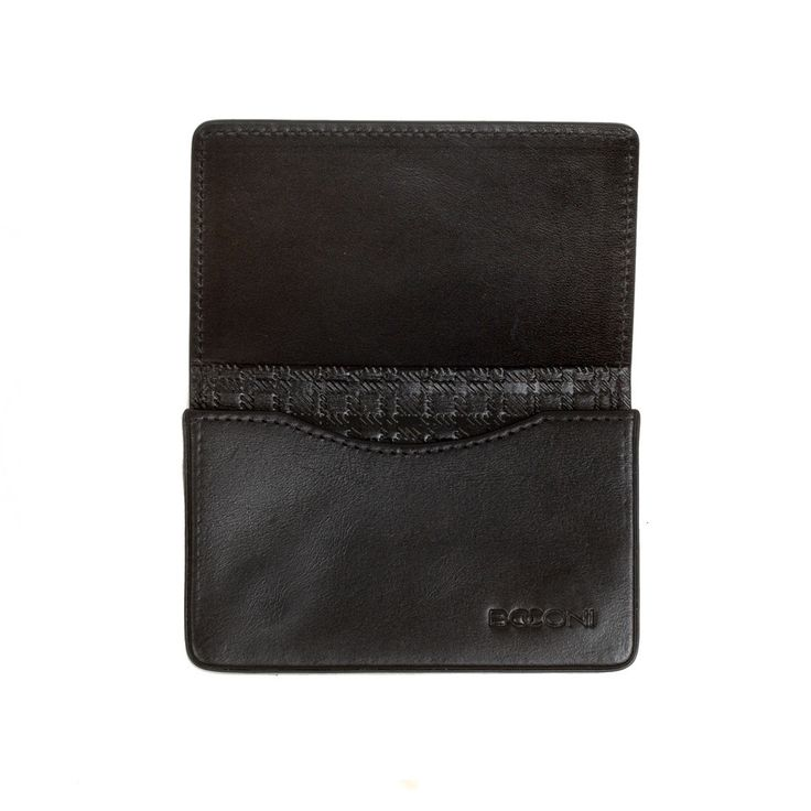 Collins Calf RFID Magnetic Card Case in Black