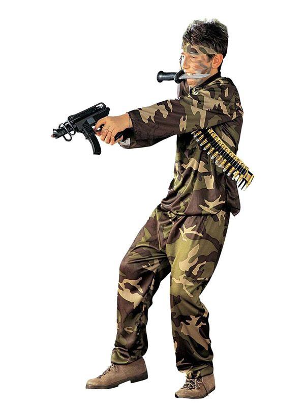 El disfraz de militar fuerzas especiales niño, incluye Casaca, pantalón, cinturón y cinta para la cabeza. en DisfracesMimo.com