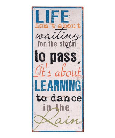 Love this 'Dancing in the Rain' Wall Art on #zulily! #zulilyfinds