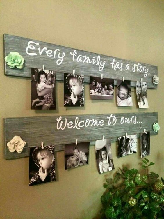 Wood picture hanger