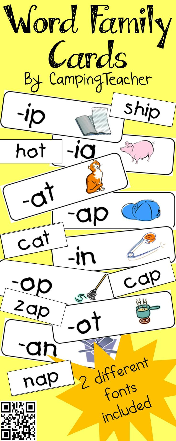 67 best word families images on pinterest word family activities