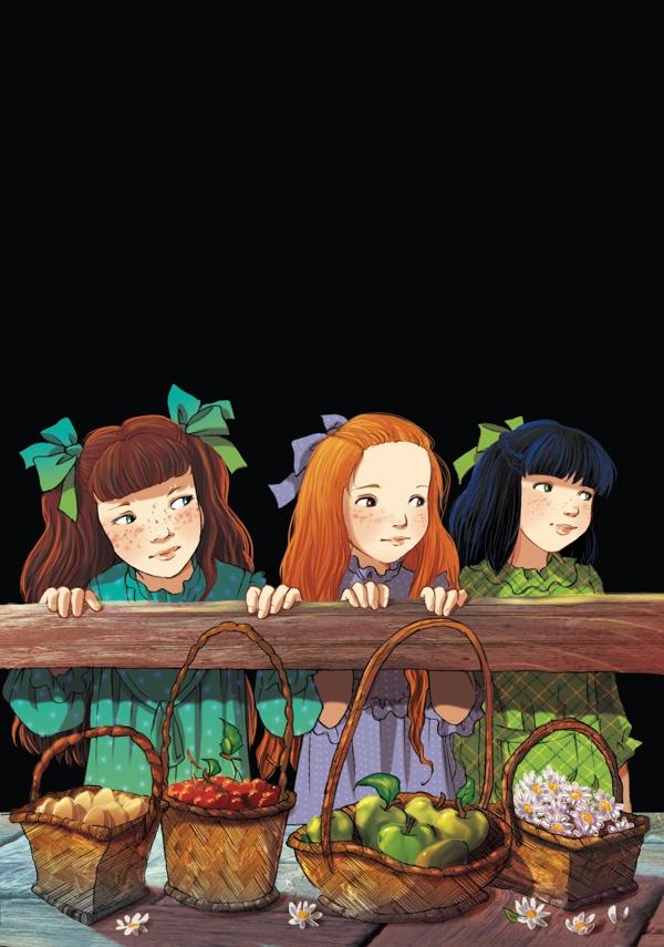 The Children of Fairy Oak: Nepeta Rose, Cecilia and Melissa Buttercup.