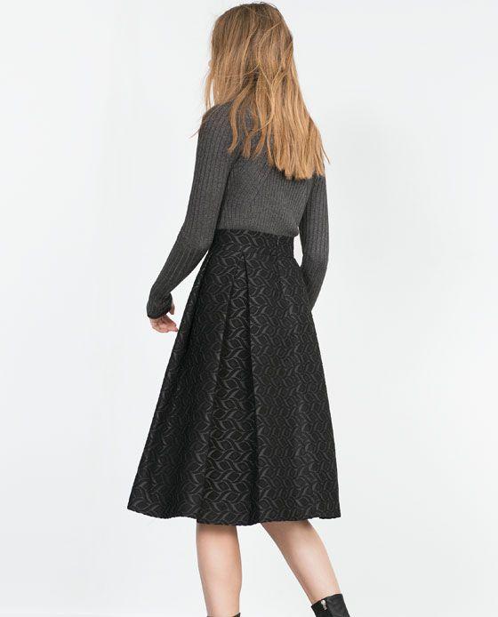 Image 5 of JACQUARD MID-LENGTH SKIRT from Zara