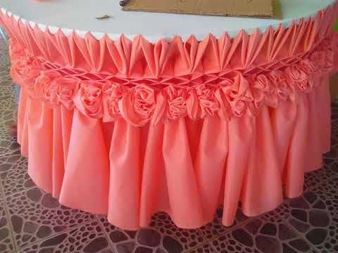 table skirting 14design  YouTube  Beautiful table  Wedding table decorations Table