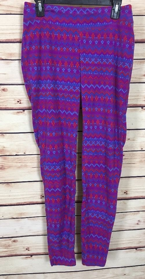 Columbia fleece leggings womens size M purple hot pink blue  #Columbia #Leggings