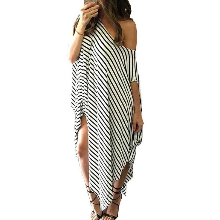 Women Loose Long Maxi Dress Striped Batwing Sleeve Off shoulder Split Casual Beach Dresses Wear Plus Size Vestidos $16.05   => Save up to 60% and Free Shipping => Order Now! #fashion #woman #shop #diy  http://www.greatdress.net/product/2016-women-loose-long-maxi-dress-striped-batwing-sleeve-off-shoulder-split-casual-beach-dresses-wear-plus-size-vestidos/