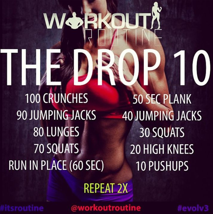 the drop 10 workout