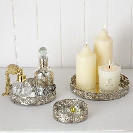 Trouva: Set Of 3 Mirrored Candle Plates
