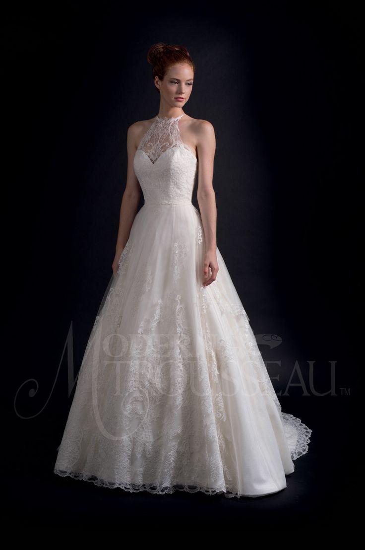 full asymmetrical cut skirt and halterneck - Modern Trousseau Fall 2016 Wedding Dresses | itakeyou.co.uk #weddinggown #weddingdress:
