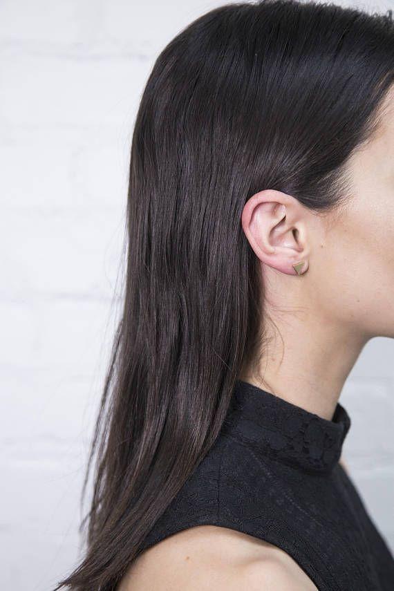 Triangle Stud Earring / Stud Triangle Earring / Geometric