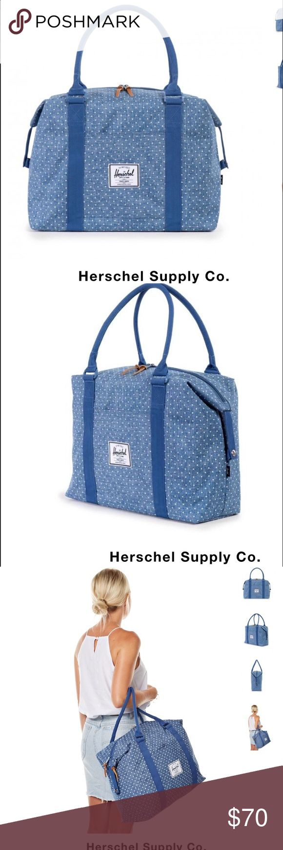 Herschel Limoges Strand Crosshatch Limoges crosshatch/polka dot duffle. Brand new with tags. Never used. Herschel Supply Company Bags Travel Bags