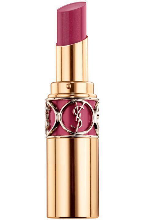 YSL Rouge Volupté Shine No. 35 Fuchsia in Grunge, $36, yslbeautyus.com.
