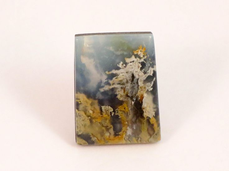 Northridge Plume Agate Designer Doublet Cabochon, Idaho http://etsy.me/2AGlFbE #plumeagate #plume #cabochon #northridgeplume