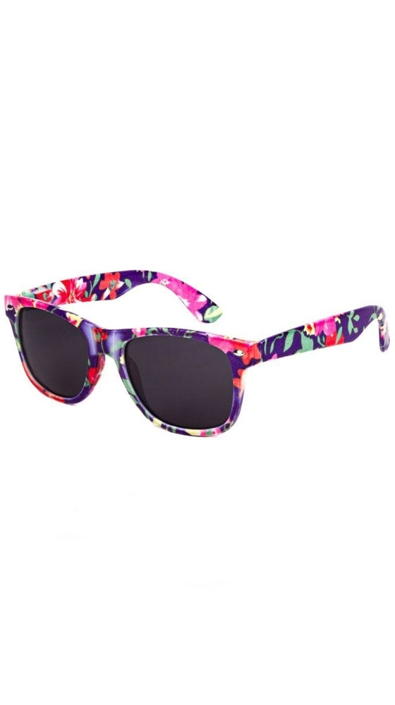 Wayfarer, Pink/Purple FloralPink Purple Floral, Girly Shades, Style 3, Floral Raybands, Floral Sunglasses