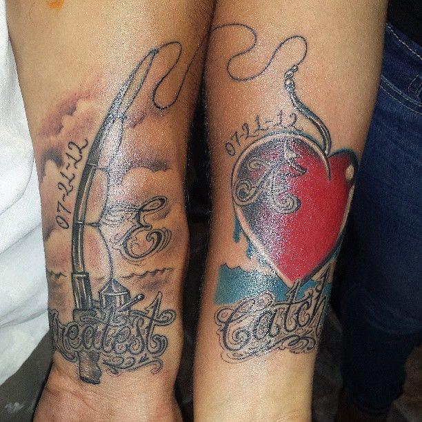 Anniversary Love Couple Tattoo Design   Cool Tattoo Designs