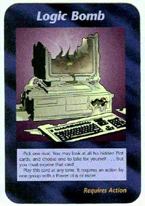 Illuminati card game - Logic Bomb