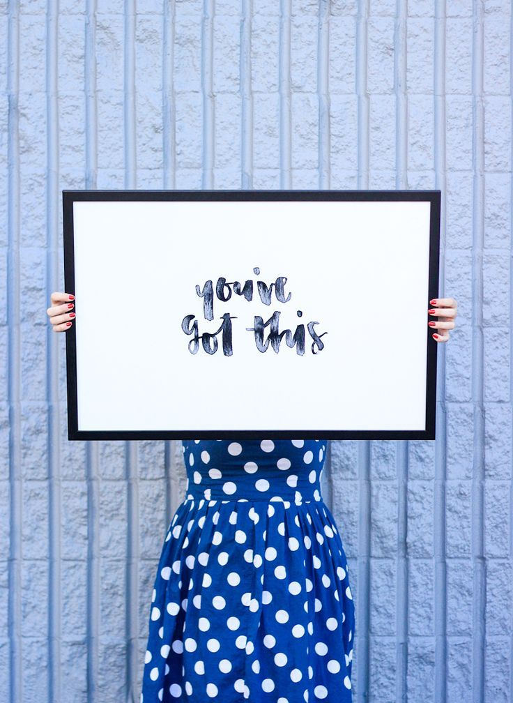 Free Motivational Printable: You've Got This