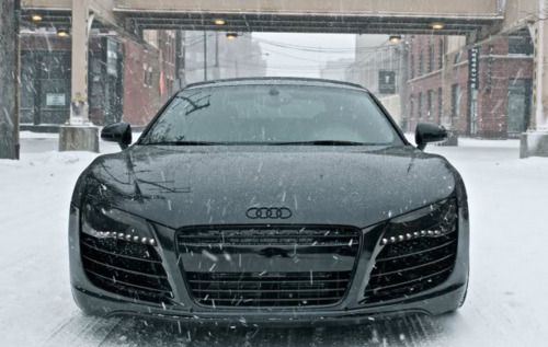 Audi R8 - Triple BlackSports Cars, Audir8, Supercars, Audi R8, Riding, Snow, Super Cars, Black Audi, Dreams Cars