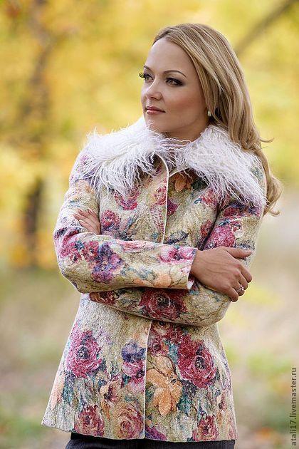 Пиджаки, жакеты ручной работы. Жакет Пастель-войлок. Наталия Лелецкая. Ярмарка Мастеров. Валяная одежда, шерсть