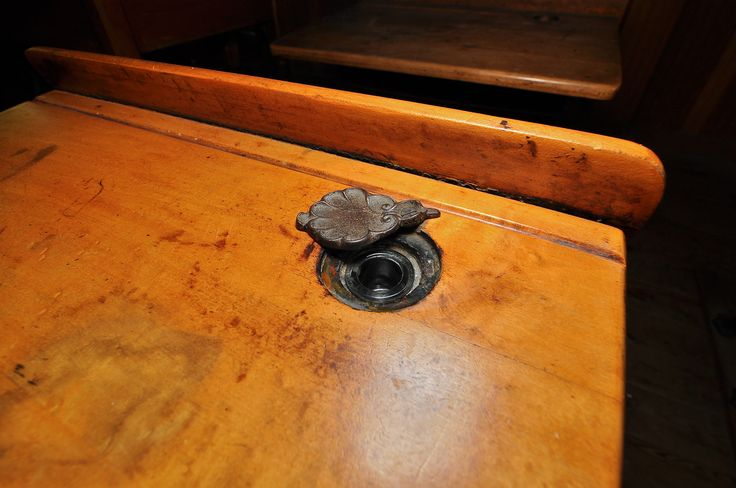 Early 20th century school desk with inkwell.   One Room School   Pinterest    School desks and School - Early 20th Century School Desk With Inkwell. One Room School