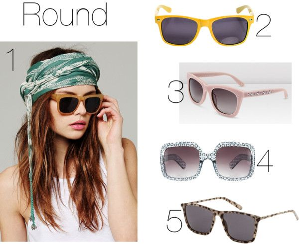 'Sunglasses for Round faces' Check out the complete sunglasses guide at http://styledandwired.blogspot.co.uk/2013/04/a-guide-to-sunnies-what-sunglasses-suit.html