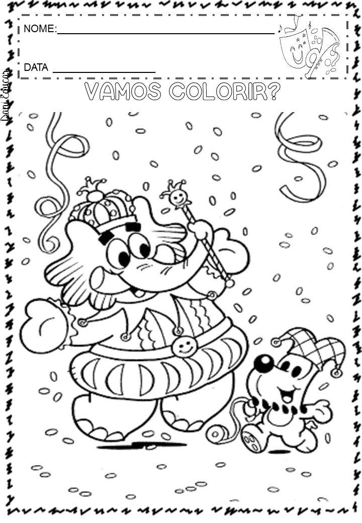 Pin De Gogo Ted Em أوراق عمل للأطفال Carnaval Para Colorir