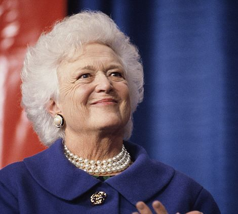 America's First Ladies: Barbara Bush: The wife of President George H.W. Bush, Barbara Bush admitted during a 2003 interview that she doesn¿t watch TV. Instead, she reads, and has pushed for literacy awareness, much like her daughter in law, Laura Bush.