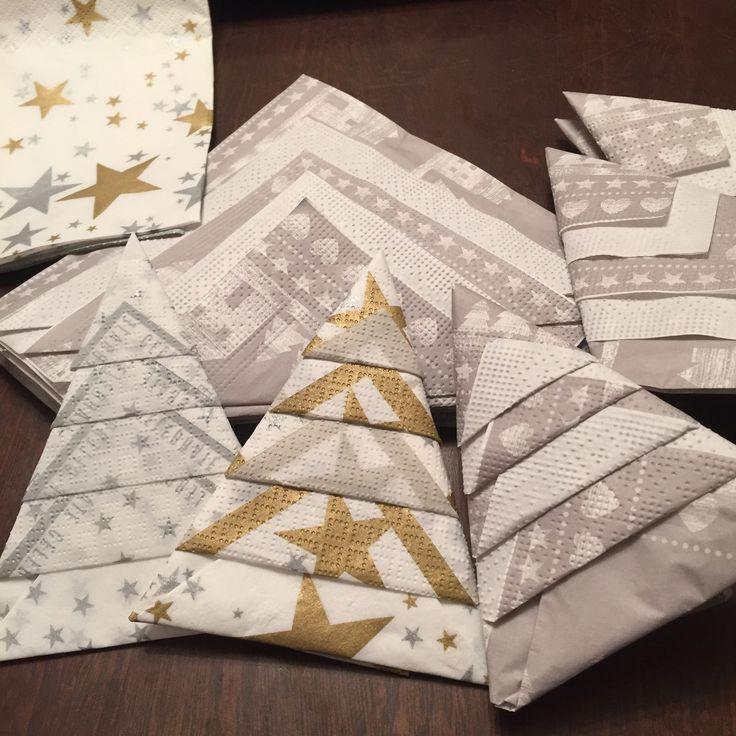 Busy folding napkins ....... Again lol