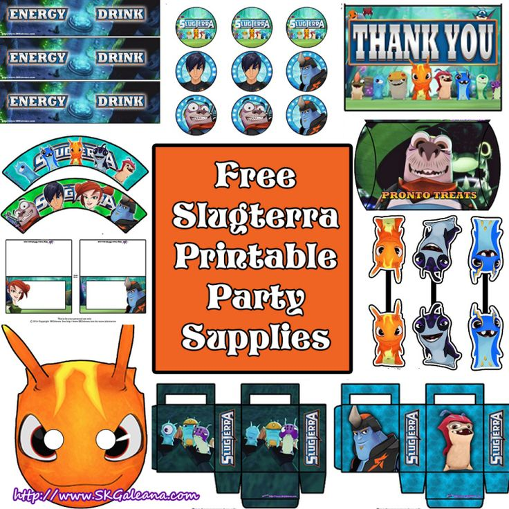 Free Slugterra Party Printables