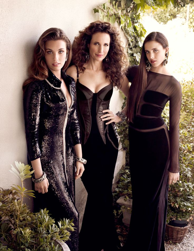 Andie MacDowell with her daughters Rainey Qualley and Sarah Margaret Qualley.