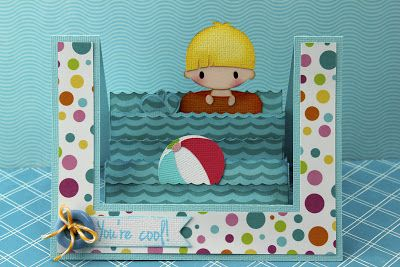 My Craft Spot: DT post by Gwen - Cute summer step card!