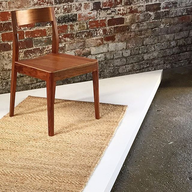 Brake Dining Chair In Blackwood And Armadillo And Co Rug