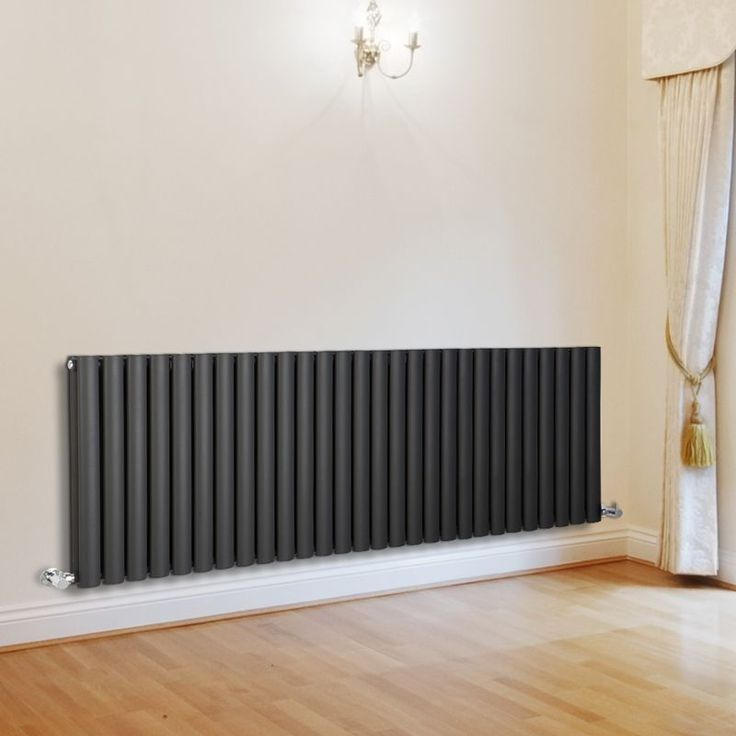Milano Aruba - Luxury Anthracite Horizontal Designer Double Radiator 635mm x 1647mm - All Designer Radiators - Designer Radiators - Radiators