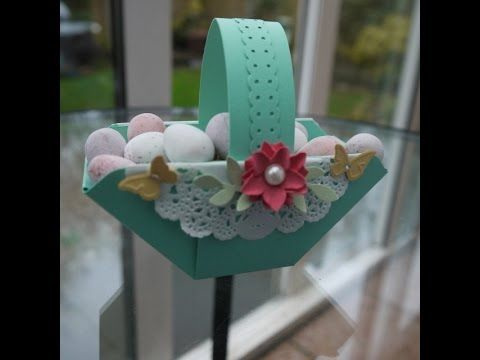 Easter Basket made with the Envelope Punch Board - YouTube